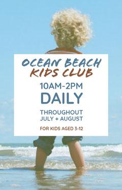 Ocean Beach Kids Club Kids