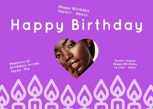 purple group birthday card Group Birthday Card