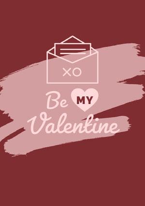 Violet Be My Valentine Card Cartão de dia dos namorados