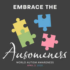 Colorful, World Autism Awareness Day, Instagram Square Health Posters