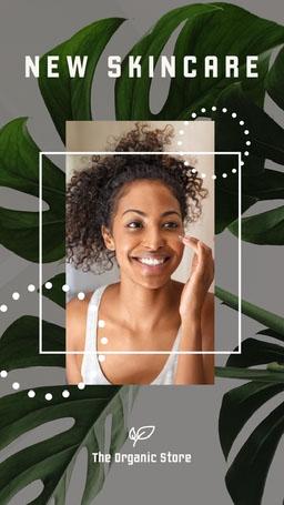 Green White Plants Organic Skincare Instagram Story