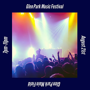 Glen Park Main Field Music Festival Poster
