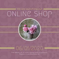 Online shop launch Instagram Square Shopping