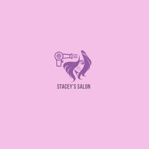 Pink and Violet Square Logo Business Card