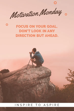 Motivational Pinterest Graphic with Photographer Motivationsplakat