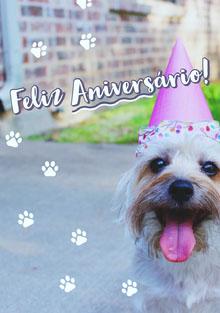 dog birthday cards  Cartão de aniversário