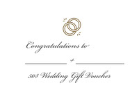 White and Black Empty Wedding Gift Card Congratulations Messages