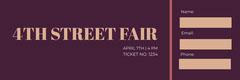 Claret and Beige Street Fair Ticket Fairs