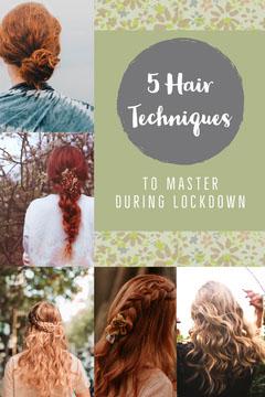 Green with Flower Pattern Hair Techniques Pinterest Post Hair Salon