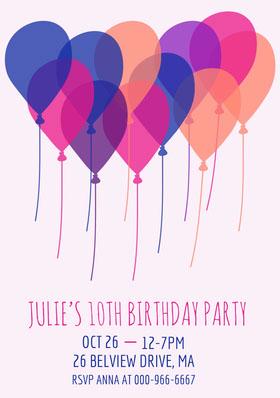 girlsbirthdaypartyinvitation  Birthday Invitation (Girl)