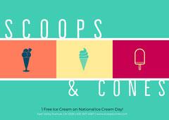Multicolored Illustrated Ice Cream Parlor Ad Ice Creams