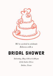 Bridal Shower  Invitación de boda