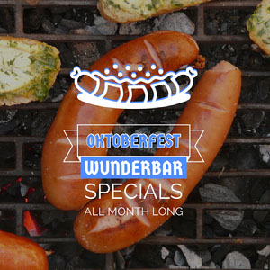 White With Sausages Instagram Graphic Oktoberfest Invitation Templates