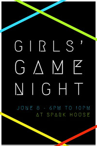 GIRLS' GAME NIGHT Uitnodigingen