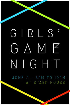 GIRLS' GAME NIGHT Game Night Flyer