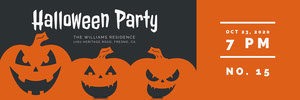 Orange and Black Halloween Pumpkin Carving Party Raffle Ticket  抽獎券