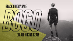 Yellow and Gray Hiking Equipment Sale Youtube Thumbnail Ad Bogo