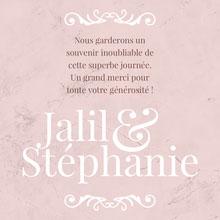 Pink Marble Curves Wedding Thank You Card - Instagram Square Carte de remerciement de mariage