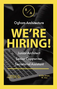 architecture job poster  Job Poster