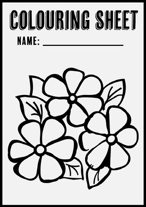 Black Outline Colour In A4 Worksheet  Coloring Pages Templates