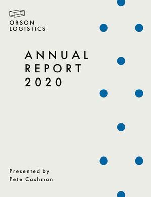Blue Dots Simple Annual Business Report Rapporto