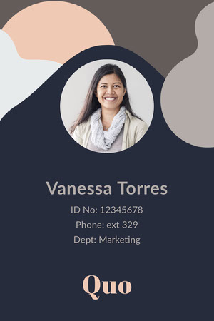 marketing staff ID card  Identiteitskaart