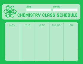 Chemistry Class Schedule