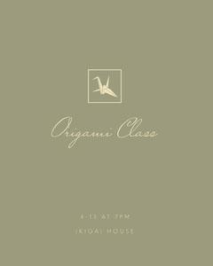 Beige Origami Class Instagram Portrait Ad Japan