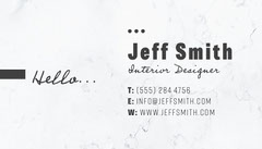 Black and White Interior Designer Business Card Interior Design