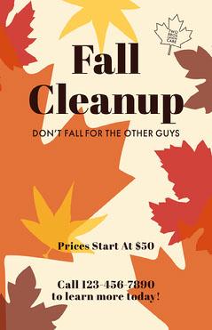 Multicolor Fall Lawn Care Business Flyer Autumn