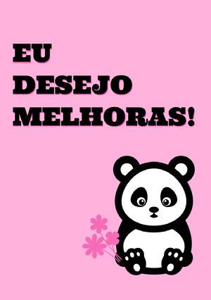panda get well soon cards  Cartão de melhoras