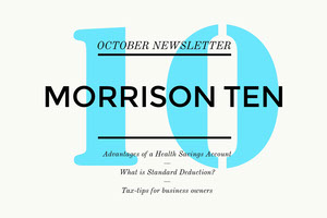 White and Cyan Finance and Business Newsletter Header Newsletter