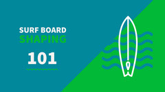 Green White and Blue Surf Board Shaping Facebook Page Cover Surfing