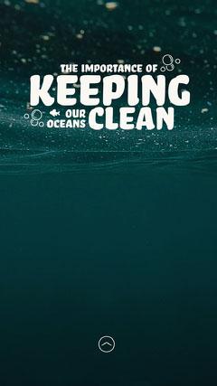 Clean Oceans IG Story Ocean