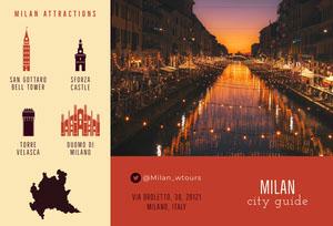 Beige and Orange Milan City Guide Brochure Travel Brochure