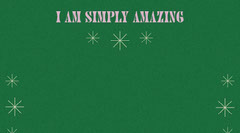 Green and Pink Retro Self-Affirmation Zoom Background Groovy