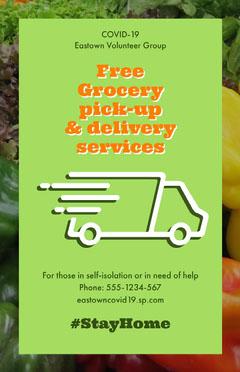 food delivery volunteer group poster Volunteer