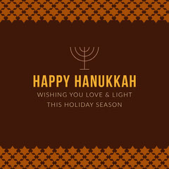 Brown Hanukkah Holiday Instagram Graphic Hannukkah
