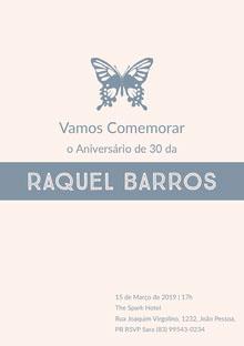 Raquel Barros  Convite