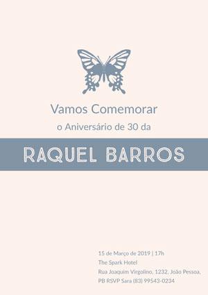 Raquel Barros  Convite de aniversário