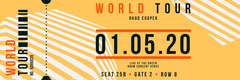 Orange Geometric World Tour Concert Ticket  Music Tour