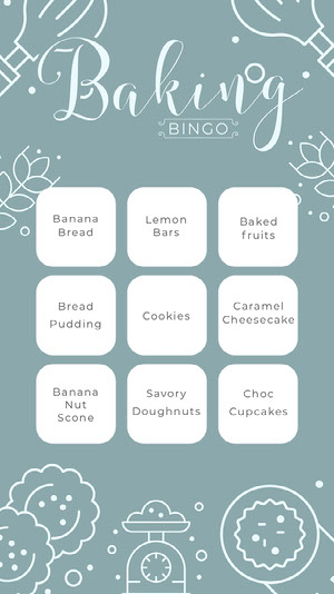 baking bingo instagram story Cartes de Bingo de quarantaine