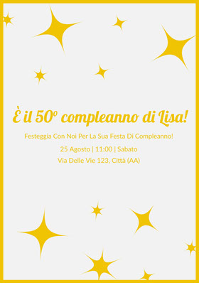 È il 50° compleanno di Lisa!  Invito al compleanno