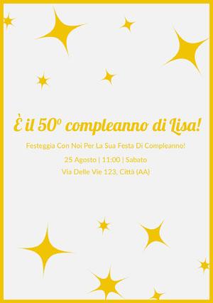 È il 50° compleanno di Lisa!  Invito a una festa