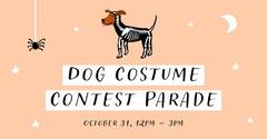 Orange and Black Cute Dog Halloween Costume Contest Facebook Post Halloween Party Invitation