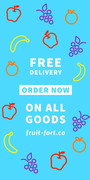 Blue and White Free Delivery Advertisement Advertisement Flyer