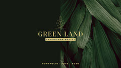 Dark Green and Golden Landscape Artist Portfolio Cover Landscape