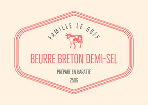 Pink Frame Butter Label Copy Étiquette