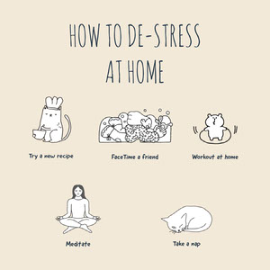 de-stress at home instagram Yoga Posters