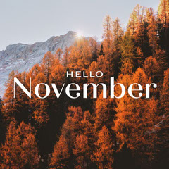 Simple Elegant Hello November Social Graphic Hello